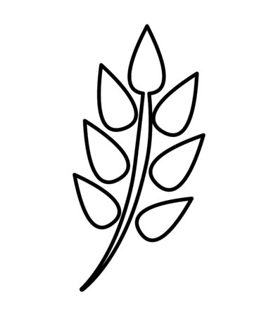 decorative leafs plant isolated icon vector illustration design Illustration