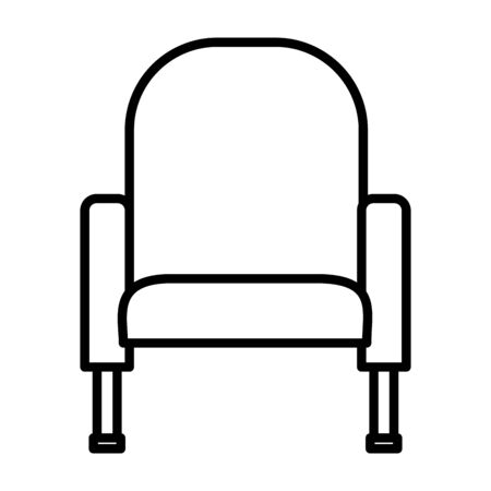 armchair furniture comfort on white background vector illustration