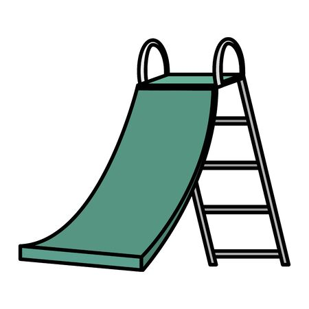 slide game kids zone on white background vector illustration