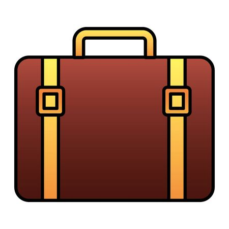 vintage suitcase on white background vector illustration Ilustrace