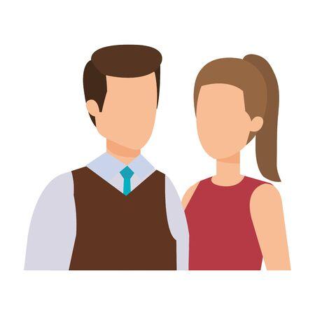 business couple avatars characters vector illustration design Ilustracja