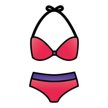bikini fashion on white background vector illustration