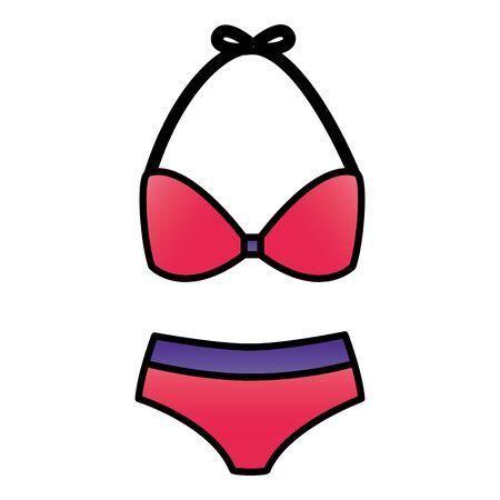 bikini fashion on white background vector illustration
