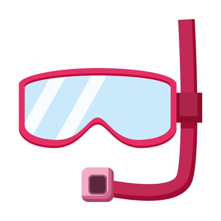 snorkel mask on white background vector illustration