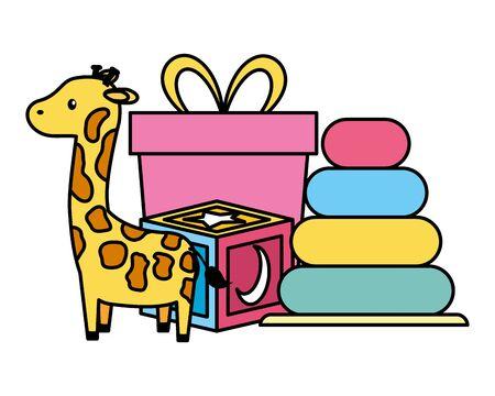 set of baby toys icons vector illustration design Иллюстрация