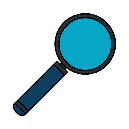 search magnifying glass icon vector illustration design Banco de Imagens - 130132097