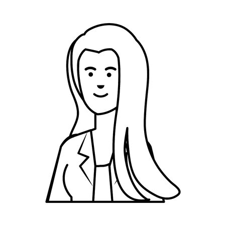 young businesswoman avatar character vector illustration design