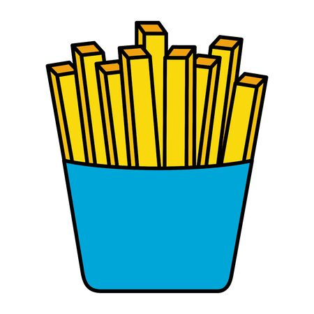 french fries on white background vector illustration 일러스트