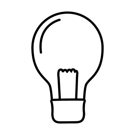 light bulb electricity on white background vector illustration