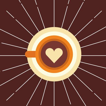 Coffee cup design, Drink breakfast beverage bakery restaurant and shop theme Vector illustration