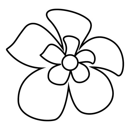 tropical exotic flower decoration icon on white background vector illustration Stock Illustratie