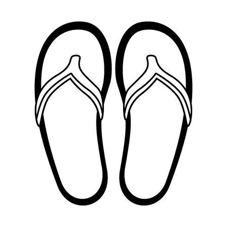 beach sandals fashion on white background vector illustration Ilustracja