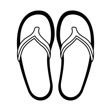 beach sandals fashion on white background vector illustration Illustration