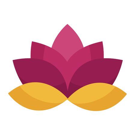 Lotus flower design, floral nature plant ornament garden decoration and botany theme Vector illustration Ilustracja