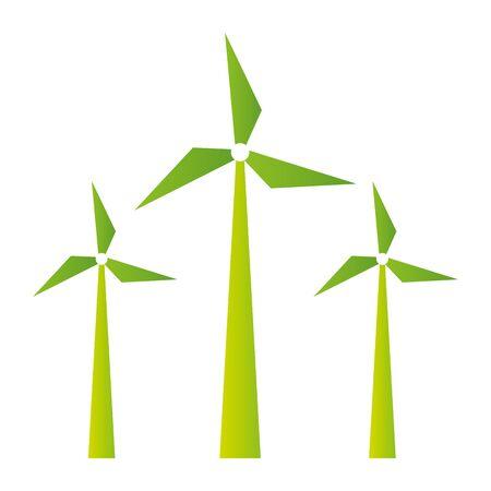 windmill sustainable energy eco friendly environment vector illustration Ilustracja