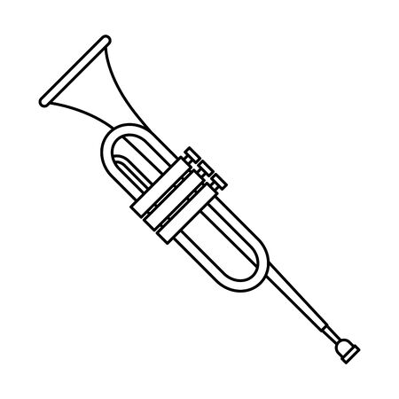 trumpet instrument music icon vector illustration design Zdjęcie Seryjne - 130133200