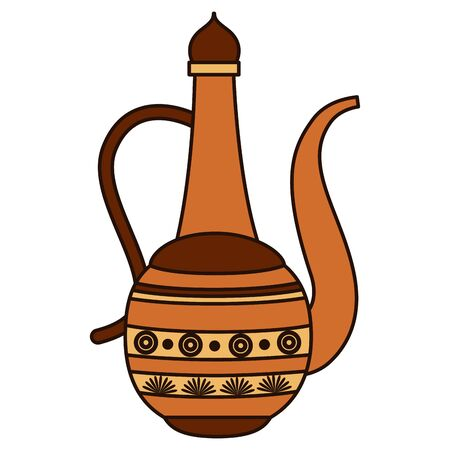 indian teapot folk isolated icon vector illustration design 矢量图像