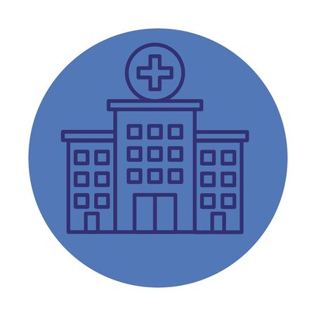 hospital building facade icon vector illustration design