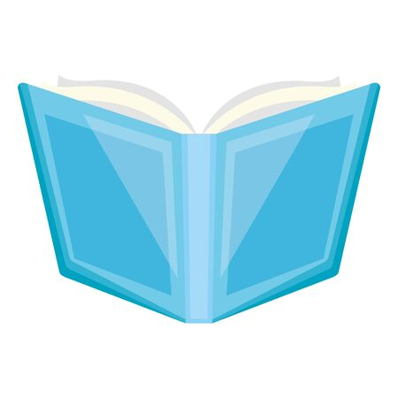 open book supply school on white background vector illustration