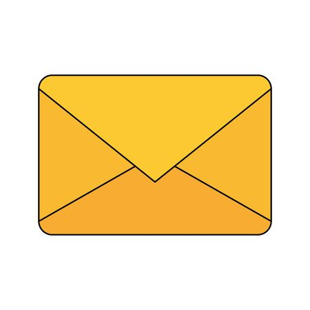 Envelope design, Email mail message letter marketing communication card and document theme Vector illustration  イラスト・ベクター素材