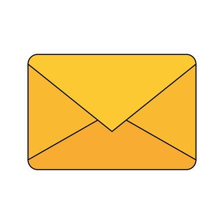 Envelope design, Email mail message letter marketing communication card and document theme Vector illustration Stock Illustratie