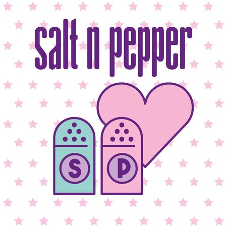 Salt and pepper design, Food restaurant menu dinner lunch cooking meal and tasty theme Vector illustration 일러스트