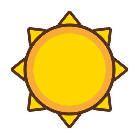 sun climate summer on white background vector illustration Stock Illustratie