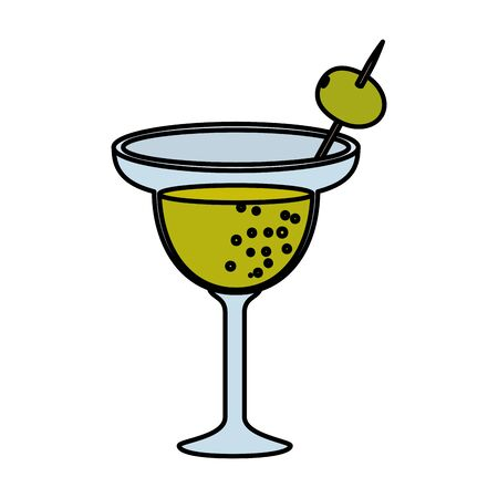 tequila cup margarita beverage vector illustration design  イラスト・ベクター素材