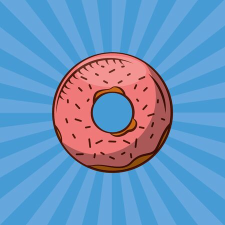 Donut design, Bakery food shop traditional quality style and breakfast theme Vector illustration Ilustração