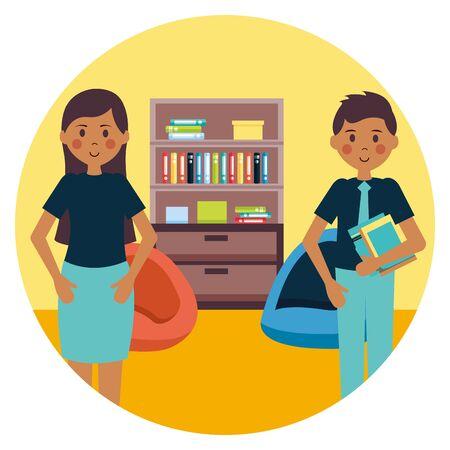 people office workplace vector illustration design image Illustration