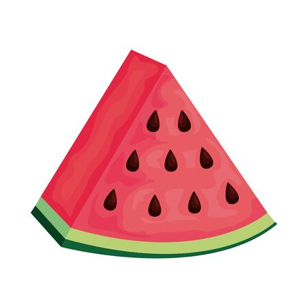 watermelon fresh fruit icon vector illustration design Archivio Fotografico - 130150468
