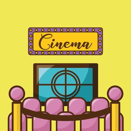 Cinema icon design, Movie video film media entertainment show and event theme Vector illustration