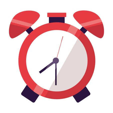 alarm clock time back to school vector illustration Çizim