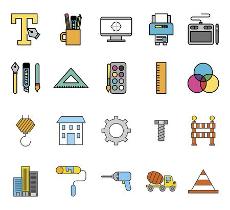 bundle of creative ideas set icons vector illustration design Фото со стока - 130152746