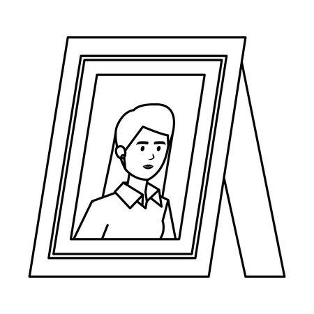 portrait with elegant businesswoman vector illustration design 向量圖像