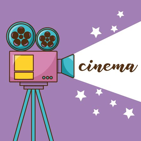Cinema videocamera design, Movie video film media entertainment show and event theme Vector illustration