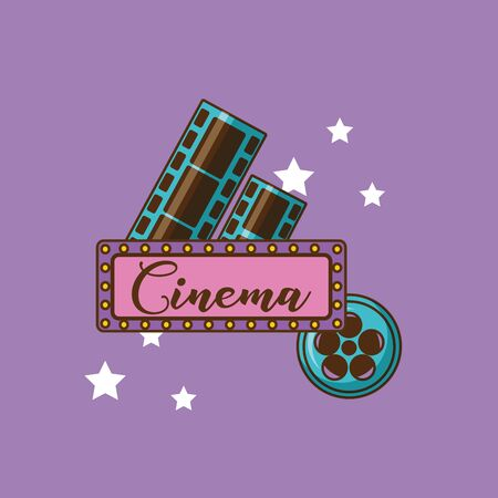 Cinema icon design, Movie video film media entertainment show and event theme Vector illustration