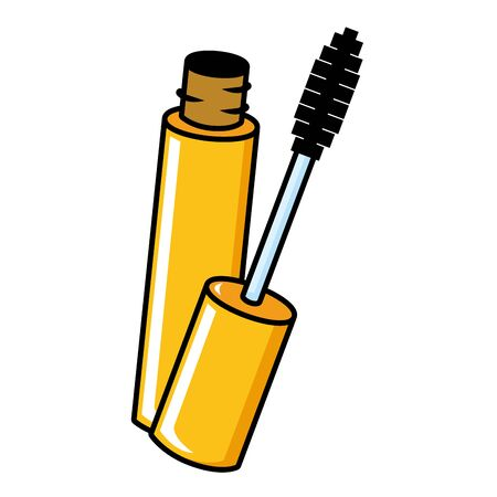 mascara brush female elements icon vector illustration Foto de archivo - 130167131