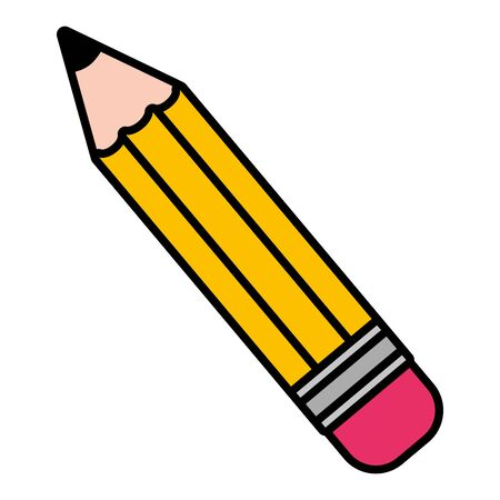 pencil supply school on white background vector illustration