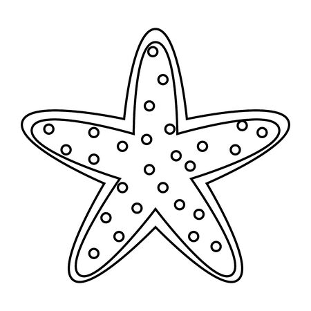 starfish wildlife on white background vector illustration