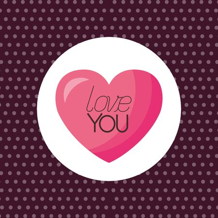 Heart design, Love valentines day romance relationship passion and emotional theme Vector illustration Çizim