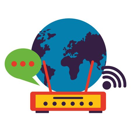world router internet wifi free connection vector illustration