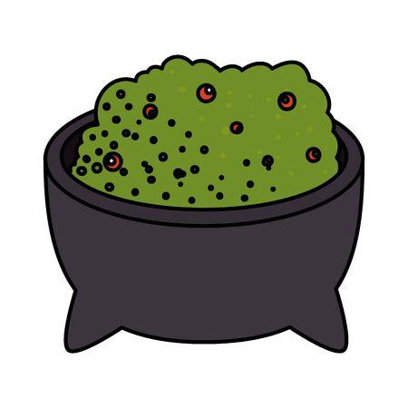 delicious guacamole sauce icon vector illustration design  イラスト・ベクター素材