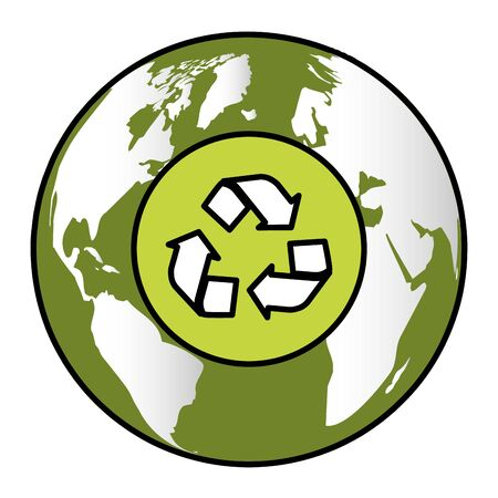 world recycle eco friendly environment vector illustration