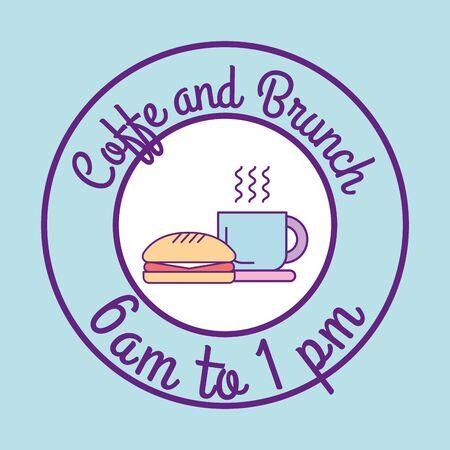 Coffee and brunch design, Food restaurant menu dinner lunch cooking meal and tasty theme Vector illustration Ilustração