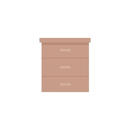 wooden drawer forniture isolated icon vector illustration design Stockfoto - 130181136