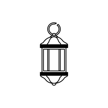 lantern light hanging isolated icon vector illustration design