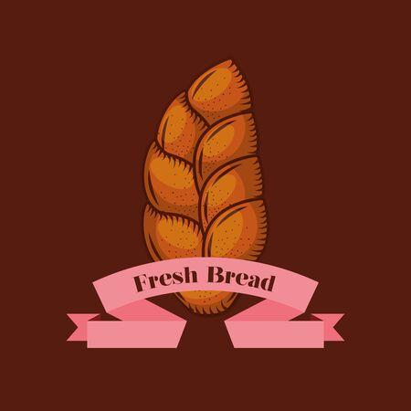 Bread design, Bakery food shop traditional quality style and breakfast theme Vector illustration Ilustração