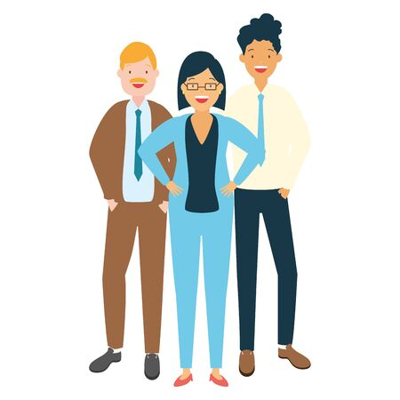 people group characters diversity on white background vector illustration Illustration