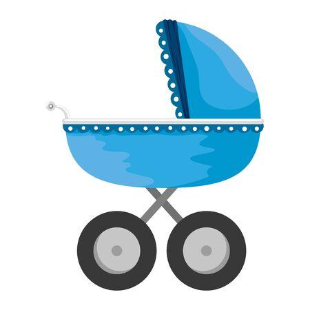 Diseño de ilustración de vector de icono de carro de bebé aislado